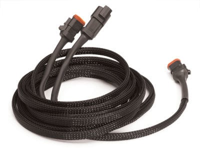 "TecNec PTN0.38 Techflex 3/16""-1/2"" Flexo Pet Tubing, 125 ft Spool, Black TFX-PTN038BK-125"