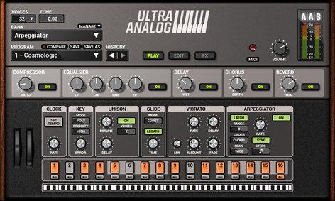 Applied Acoustics Systems Ultra Analog VA-2 Analog Synthesizer Virtual Software Instrument Plugin ULTRA-ANALOG-VA2