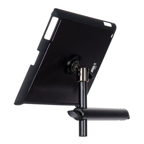 On-Stage Stands TCM9160B  Snap-On iPad Microphone Stand Mount with u-mount in Black TCM9160B