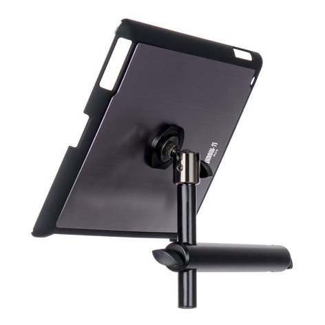 On-Stage Stands TCM9160GM Snap-On iPad Microphone Stand Mount with u-mount in Gun Metal TCM9160GM