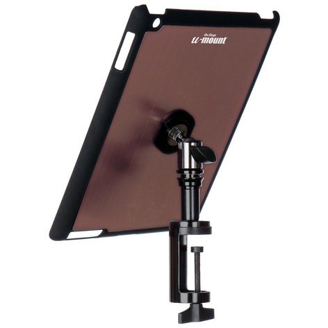 On-Stage Stands TCM9163M Snap-On iPad Cover/Mount for Table Edges with u-mount in Mauve TCM9163M