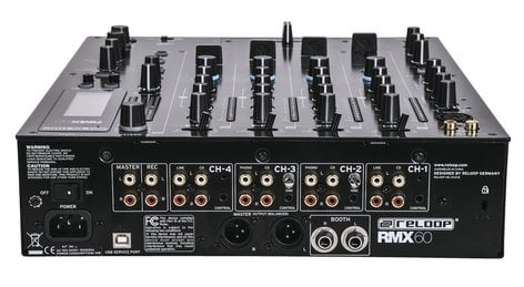 Reloop RMX-60 Digital 4-Channel Digital DJ Mixer with Onboard Effects RMX-60-DIGITAL