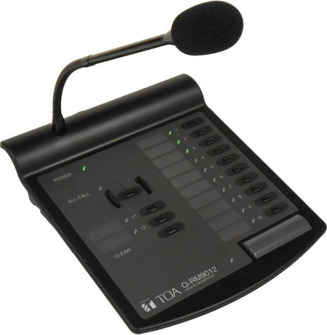 TOA Q-RM9012PS  Remote Paging Mic w/Power Supply Q-RM9012PS
