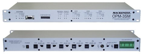 Mackenzie Labs OPM-3SM  Paging System, 3-channel, 1RU OPM-3SM