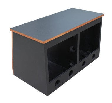 Sound Construc.& Supply R16-2SL 32 RU Slanted Double Bay Rack R16-2SL
