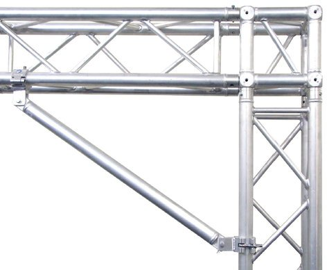 """Global Truss ST-5050 32"""" Single Tube Segment with Clamps on Ends ST-5050"""