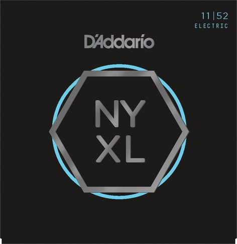 D`Addario NYXL1152 NYXL Series Nickel Wound Medium Top/Heavy Bottom Guitar Strings, 11-52 NYXL1152