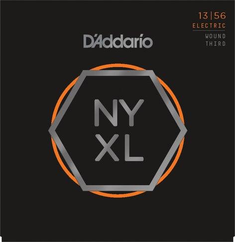 D`Addario NYXL1356W NYXL Series Nickel Wound, Medium Wound 3rd Guitar Strings, 13-56 NYXL1356W