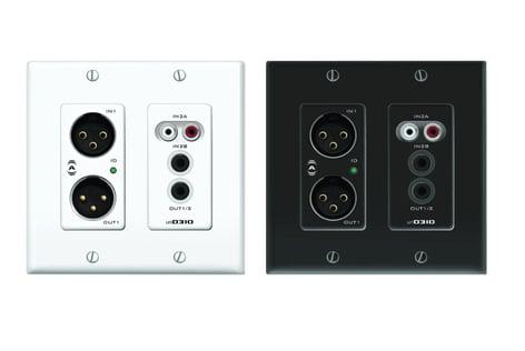 Attero Tech unD3IO 2x2 Channel Dante Audio Interface 2-Gang Wall Box UND3IO