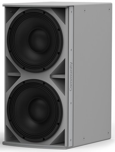 "Community IS6-212 I Series Dual 12"" 1400W (4 Ohms) Passive Installation Subwoofer in White IS6-212W"
