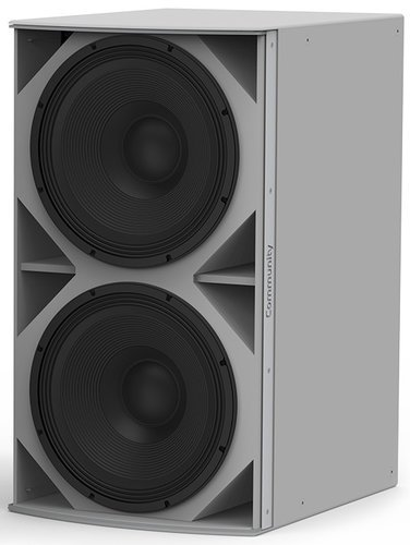 """Community IS8-218W Dual 18"""" Passive Subwoofer 3200W, White 