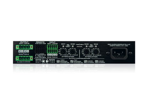 QSC SPA4-60 4-Channel, Low Impedance Amplifier SPA4-60