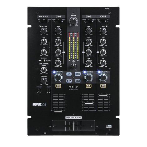 Reloop RMX-33i 3 + 1 Channel DJ Mixer with Onboard Instant FX RMX-33I