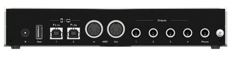iConnectivity iConnectAUDIO4+ 4x4 USB Audio/MIDI Interface with Multi-Host Connectivity IC-AUDIO4