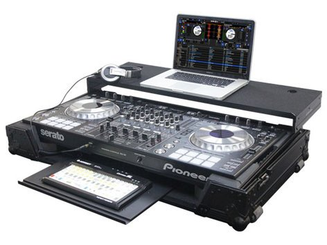 Odyssey FZGSPIDDJSZGTBL  Black Label Series Flight Case with Gliding Laptop Platform for Pioneer DDJ-SZ & DDJ-SZ-N DJ Controllers FZGSPIDDJSZGTBL
