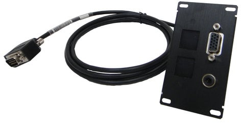 Altinex CNK-IP-111  VGA Female to Male Insert Plate for Cable Nook Jr with 6 ft Pass Thru Cable CNK-IP-111