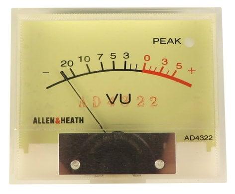 Allen & Heath AD4322  8V Bulb VU Meter Assembly for ML3000 AD4322