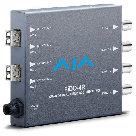 AJA Video Systems Inc FIDO-4R  4-Channel LC Optical Fiber to 3G-SDI Converter FIDO-4R