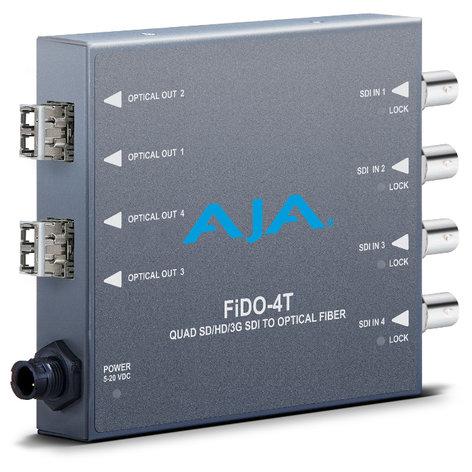 AJA Video Systems Inc FIDO-4T 4-Channel 3G-SDI to LC Optical Fiber Converter FIDO-4T