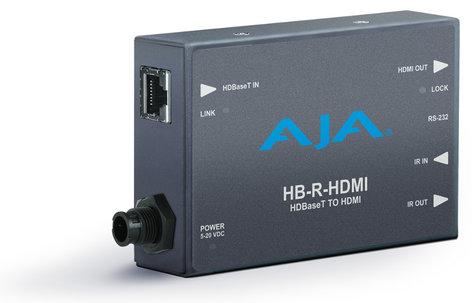 AJA Video Systems Inc HB-R-HDMI HDBaseT Ethernet to HDMI Receiver Mini Converter HB-R-HDMI