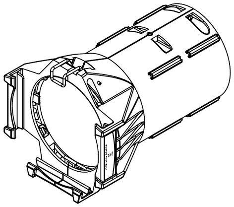 ETC/Elec Theatre Controls LED50LT-1 50° LED-Specific Lens Tube in White LED50LT-1
