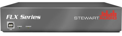 Stewart Audio FLX80-4-CV 4-Channel DSP-Enabled Rackmountable Amplifier, 4 x 80W @ 70/100V FLX80-4-CV
