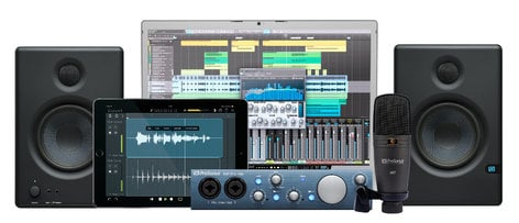PreSonus AUDIOBOX-ITWO-KIT AudioBox iTwo Kit Recording Bundle with AudioBox iTwo, Eris e4.5 Monitors, M7 Microphone, and Studio One 4 Artist DAW AUDIOBOX-ITWO-KIT