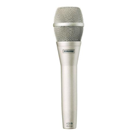 Shure KSM9/SL Dual-Pattern Handheld Condenser Microphone - Champagne Finish KSM9/SL
