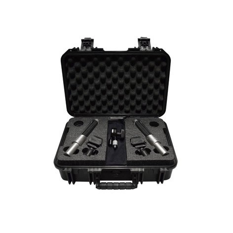 Audio Engineering Assoc N22 Nuvo Stereo Kit Stereo Mic Kit with Template Bar, Windscreens and Carrying Case N22-NUVO-STEREO-KIT