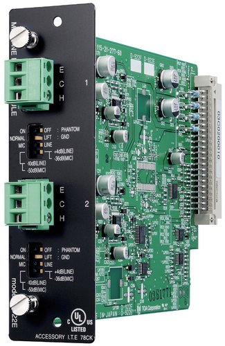 TOA D-922E 2-channel Terminal Block Input Module for TOA D-901 Mixer D922E