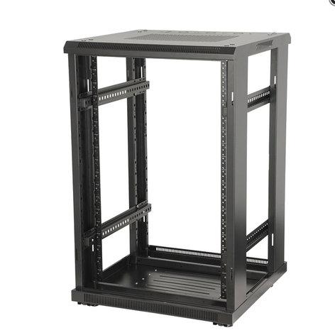 """Gator Cases GRW3022509  22U, 23"""" Deep Metal Floor Standing Rack w/ Steel Back Door, Vented Glass Front Door GRW3022509"""