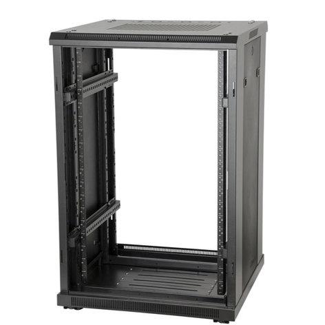 """Gator Cases GRW3018509  18U, 23"""" Deep Metal Floor Standing Rack w/ Glass Door GRW3018509"""