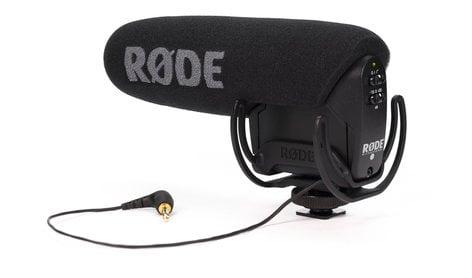 Rode VIDEOMIC-PRO-R Compact Shotgun Mic w/Rycote Lyre shockmount, HPF, Level Control VIDEOMIC-PRO-R