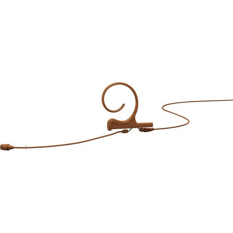 DPA Microphones FIO66C00-M  d:fine™ 66 Single-Ear Omni Headset Mic with Hardwired MicroDot Connector, Brown FIO66C00-M