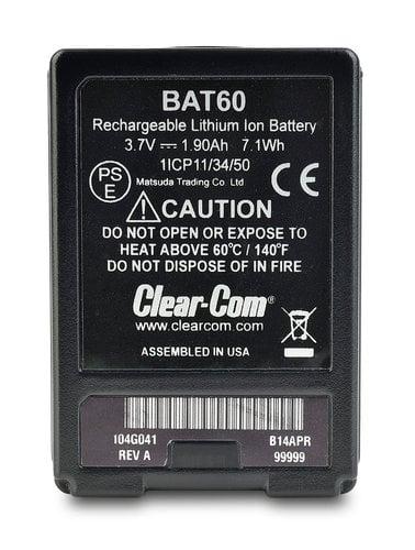 Clear-Com BAT60 Li-Ion Battery BAT60
