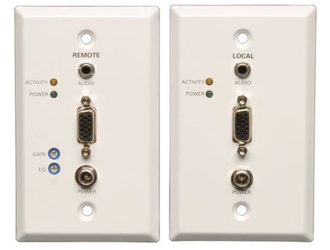 Tripp Lite B130-101A-WP-2  Cat5 / Cat6 Wall Plate VGA Extender Kit with Audio B130-101A-WP-2