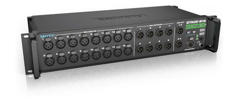 MOTU Stage-B16 16-Input Networked Stage Box and Audio Interface with Onboard DSP STAGE-B16