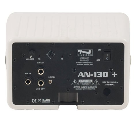 Anchor AN-130F1+ Speaker Monitor with One Wireless Receiver, White AN-130F1+