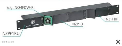 "Neutrik NZPF1RU  Rack Panel Frame, 19"" 1RU  NZPF1RU"