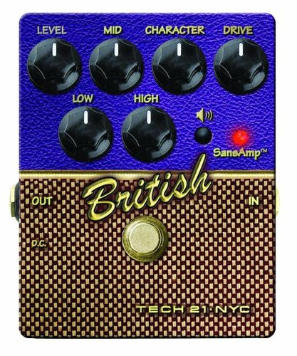Tech 21 CS-BRIT.2  SansAmp Character Series British V2 Distortion/Overdrive Guitar Effect Pedal CS-BRIT.2