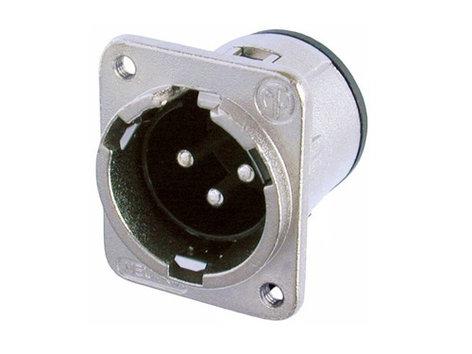 Neutrik NC3MDM3-V  Connector, DM3 Series 3-Pin M - PCBV w/M3 Mount Hole NC3MDM3-V