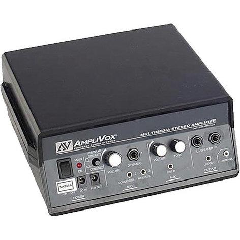 AmpliVox SW3100 Flat Cherry Panel Lectern w/ Wireless Sound System SW3100