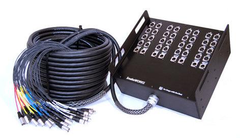 Pro Co RM1200FF-225  225 ft. 12-Channel RoadMASTER Multipair Audio Snake, XLR-M Fan to XLR-F Fan, 8 Sends, No Returns RM1200FF-225