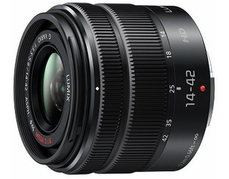 Panasonic H-FS1442AKA LUMIX G VARIO MEGA O.I.S 14-42mm F/3.5-5.6 II Micro Four Thirds Mirrorless System Camera Lens H-FS1442AKA