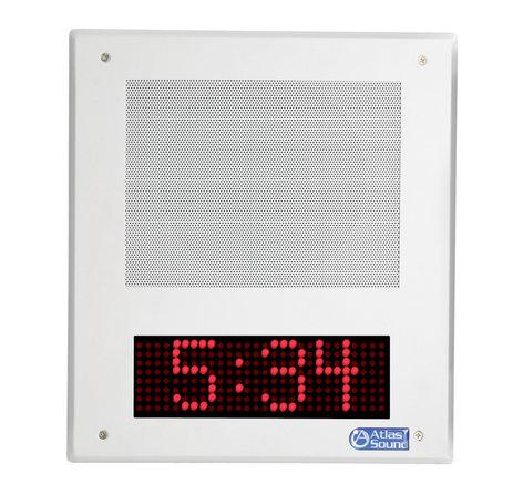 Atlas Sound I8SC  IP Speaker, w/ clock, SingleWire  I8SC