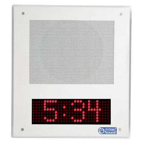 Atlas Sound I8SCH  IP Horn Speaker, w/ Clock, SingleWire  I8SCH