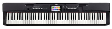Casio PX360BK Privia Series 88-Key Digital Piano with Tri-Sensor Scaled Hammer Action and Color Touchscreen PX360BK