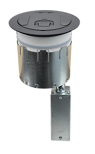 "FSR, Inc SmartFit 6 SmartFit 6"" Poke-Thru Floor Box with Black Cover SF6-CPT-DD-BLK"