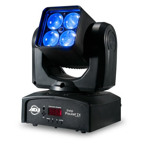 ADJ Inno Pocket Z4 4x10W Compact LED Moving Head Wash Fixture with Zoom Inno-Pocket-Z4