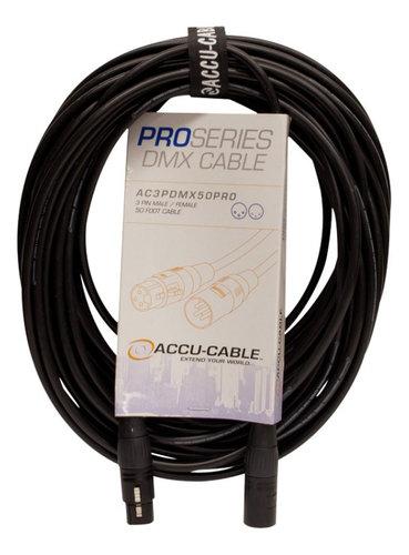 Accu-Cable AC3PDMX50PRO  50 ft Pro Series 3-Pin DMX Cable AC3PDMX50PRO